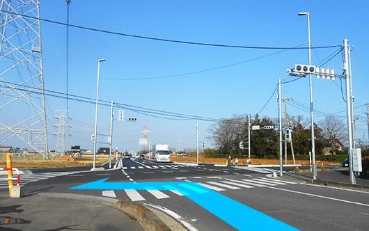 モラージュ菖蒲方面(南)からお越しの方は県道370号線を北上